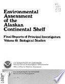 Environmental Assessment of the Alaskan Continental Shelf