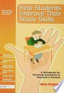 Help Students Improve Their Study Skills