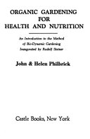 Organic Gardening for Health and Nutrition