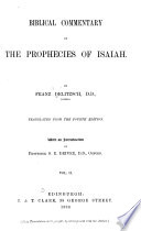 Biblical Commentary on the Prophecies of Isaiah Book