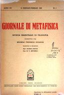Giornale Di Metafisica