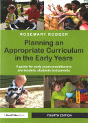 Cover of Planning an Appropriate Curriculum in the Early Years