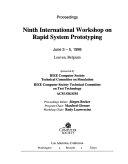 Ninth International Workshop on Rapid System Prototyping
