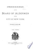 Proceedings Of The Board Of Aldermen