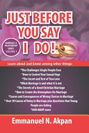 Just Before You Say I Do  Book