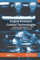 Engine Emission Control Technologies Book