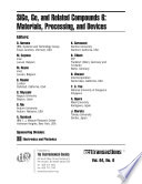 SiGe, Ge, and Related Compounds 6: Materials, Processing, and Devices