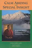 Calm Abiding and Special Insight Book