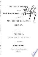 The Chinese Recorder and Missionary Journal Book