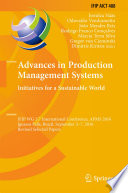 Advances in Production Management Systems  Initiatives for a Sustainable World Book
