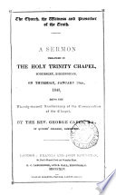 The Church  the witness and preserver of the truth  a sermon