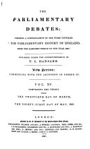 The Parliamentary Debates (official Report[s]) ... ebook