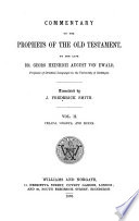 Commentary on the Prophets of the Old Testament  Commentary on the books of Yesaya   Obadya  and Mikha