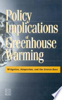 Policy Implications of Greenhouse Warming Book