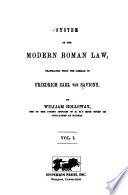 System of the Modern Roman Law