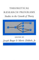 Theoretical Research Programs