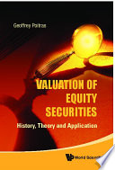 Valuation Of Equity Securities History Theory And Application