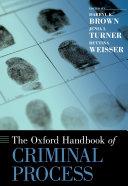 The Oxford Handbook of Criminal Process Pdf/ePub eBook