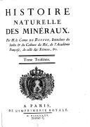 Histoire naturelle des Mineraux