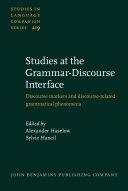 Pdf Studies at the Grammar-Discourse Interface Telecharger