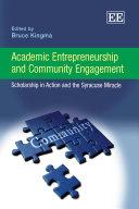 Academic Entrepreneurship and Community Engagement