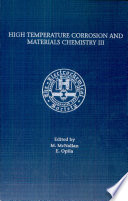 High Temperature Corrosion And Materials Chemistry Iii Book PDF