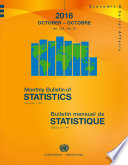Monthly Bulletin of Statistics, October 2016