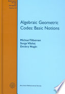 Algebraic Geometric Codes