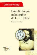 Pdf L'oubliothèque mémorable de L.-F. Céline Telecharger