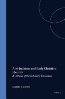 Anti Judaism and Early Christian Identity
