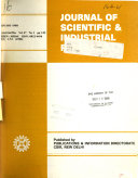 Journal of Scientific & Industrial Research