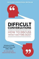 Difficult Conversations Book