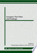 Inorganic Thin Films And Coatings Book PDF