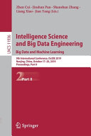 Intelligence Science and Big Data Engineering  Big Data and Machine Learning