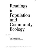 Readings In Population And Community Ecology
