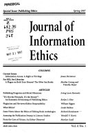 Journal of Information Ethics