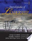 """Encyclopedia of leadership: A-E"" by George R. Goethals, Georgia Sorenson, James MacGregor Burns, James MacGregor MacGregor Burns, Sage Publications, Thomson Gale (Firm)"