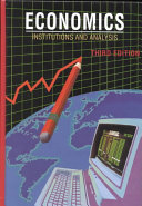 Economics Institutions and Analysis Book
