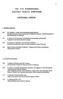 Proceedings of the     International Electric Vehicle Symposium