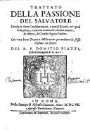 Trattato della passione del salvatore