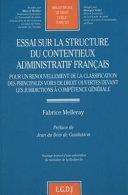 Essai sur la structure du contentieux administratif français