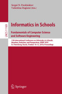 Pdf Informatics in Schools. Fundamentals of Computer Science and Software Engineering Telecharger