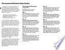 Government Statistics Data Finder
