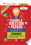 Oswaal ISC Sample Question Papers Class 12 Economics (For March 2019 Exam)