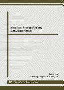 Materials Processing and Manufacturing III Pdf/ePub eBook