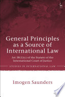 General Principles As A Source Of International Law