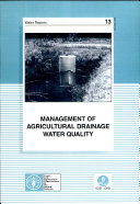 Management of Agricultural Drainage Water Quality