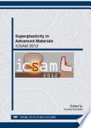 Superplasticity in Advanced Materials   ICSAM 2012