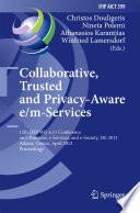 Collaborative  Trusted and Privacy Aware e m Services Book