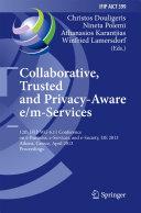 Collaborative, Trusted and Privacy-Aware e/m-Services
